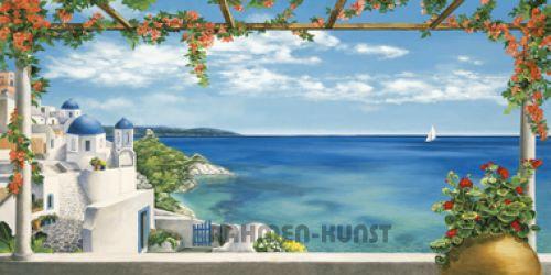 dominguez village greece griechenland fertig bild 50x100. Black Bedroom Furniture Sets. Home Design Ideas