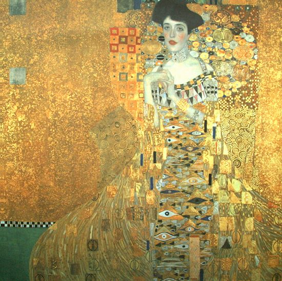 gustav klimt bildnis der adele bloch bauer i keilrahmen bild 70x70 leinwand ebay. Black Bedroom Furniture Sets. Home Design Ideas