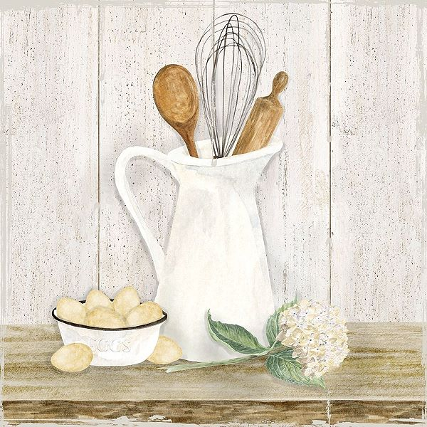 Details about Tara Reed Vintage Kitchen II Tela Barella-Immagine Cucina  Shabby Chic Country